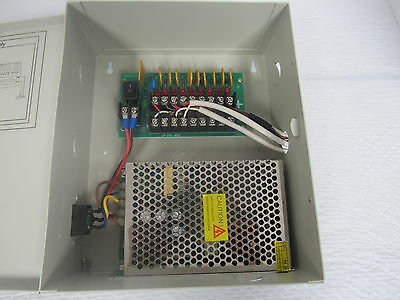 Rohs Power Supply Box For Security Camera System 10Ch 12V Dc