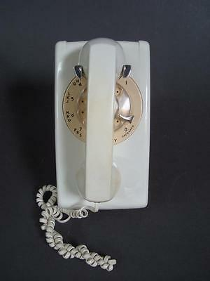 Western Electric Bell Systems 554 Beige Rotary Wall Phone - Untested