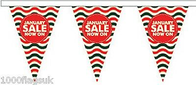 JANUARY SALE Style 4 Triangular Superior Polyester Bunting - 5m with 12 Flags