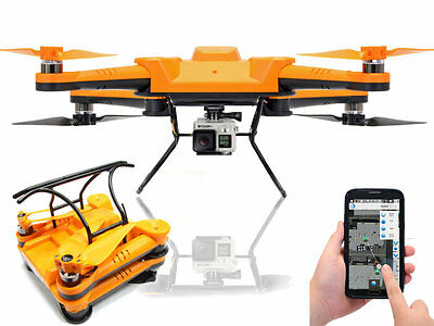 Flexify Foldable Drone Collapsible Quad-copter GPS Auto Return