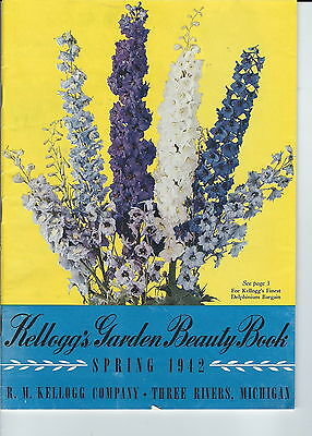 MB-106 - Kellogg's Garden Plant Catalog 1942, Three Rivers, Michigan Illustrated