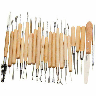 22Pcs Pottery Clay Sculpture Carving Modelling Ceramic Hobby Tools DIY Art Craft