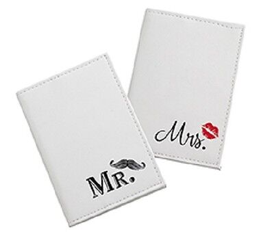 Mr. & Mrs. Wedding-Honeymoon Luggage Tags & Passport Covers-Aqua Or Mustache!!