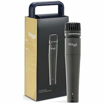 Stagg SDM70 SM57 STYLE Dynamic Instrument Microphone w Cable AND CASE