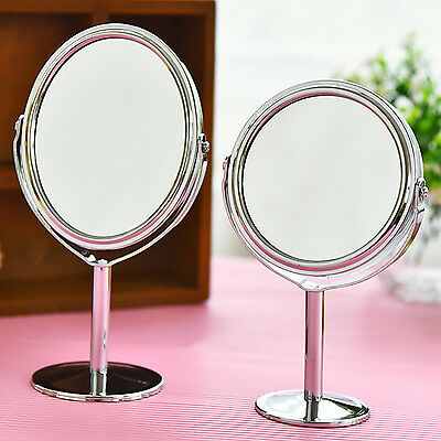 Style New Beauty Makeup Cosmetic Double-Sided Normal and Magnifying Stand Mirror