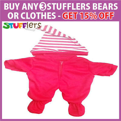 XMAS Onesie pajamas Clothing Outfit by Stufflers – Will fit on a Build a bear
