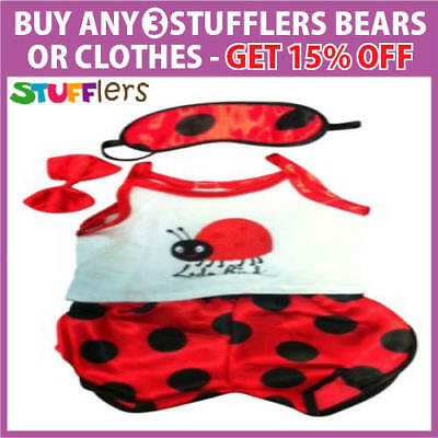 LADYBIRD PJS pajamas Clothing by Stufflers – Will fit on a Build a bear