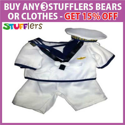 Navy Sailor Clothing Outfit by Stufflers – Will fit on a Build a bear