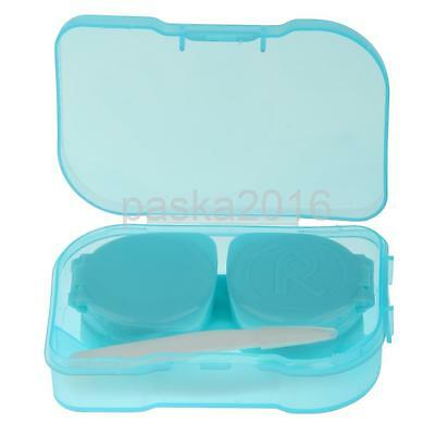 5 Colors Pocket Size Contact Lens Care Case Travel Kit Storage Holder Container