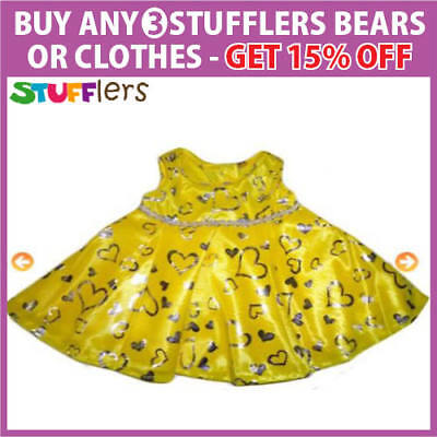 Yellow Dress Clothing Outfit by Stufflers – Will fit on a Build a bear