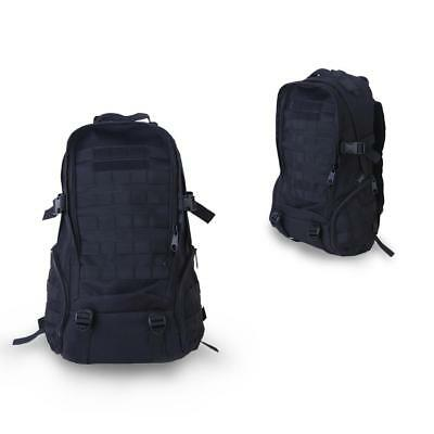35L BLACK Outdoor Military Travel Rucksack Backpack Camping Trekking Bag New