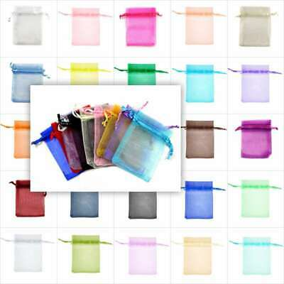 20pcs 6Size Rectangle Organza Wedding Gift Pouches Jewellery Candy Bags