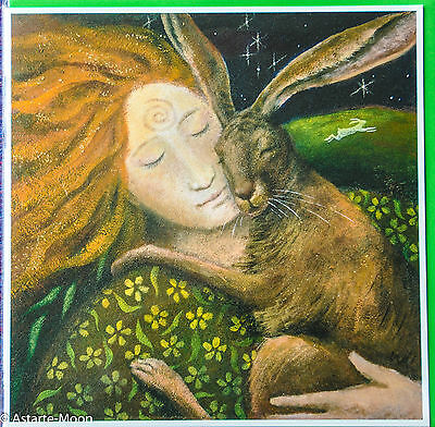 Wendy Andrew Pagan Birthday Card Hare Huggle Loved One