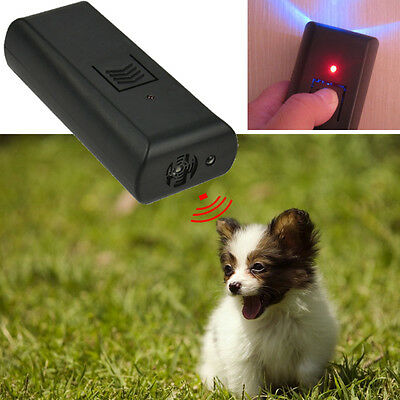 Ultrasonic Dog Pet Repeller Trainer Barking Stop Training Obedience Device