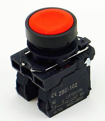 Pbc-Xb5Aa42-N New 22Mm Pushbutton Red Momentary 1No/1Nc