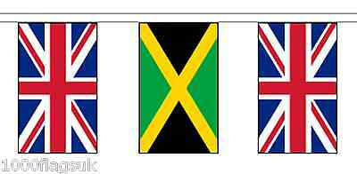 Jamaica & United Kingdom UK Polyester Flag Bunting - 5m with 14 Flags