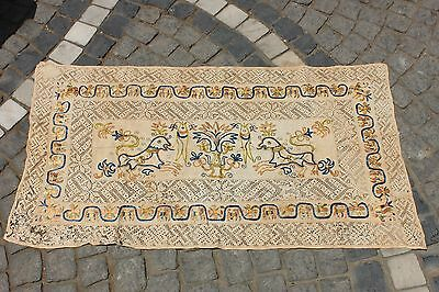 Antique Original Perfect Handmade Balkans Cotton And Silk Amazing Textile