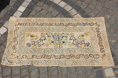 Antique Original Perfect Handmade Balkans Cotton And Silk Amazing Textile • CAD $1,006.74