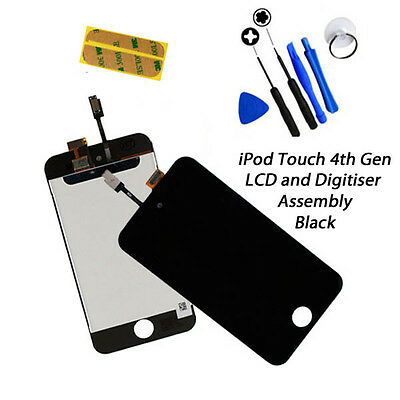 **NEW** LCD & Digitiser Touch Screen Replacement FOR iPod Touch 4G 4th Gen BLACK