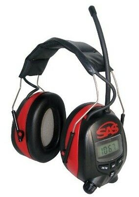 SAS Safety 6108 Digital Earmuff Hearing Protection with AM/FM Radio and MP-3 Rea