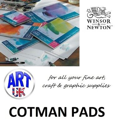 Winsor & Newton COTMAN watercolour SPIRAL PADS 140lb 300gsm cold pressed NOT