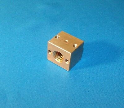 1/2-10 ACME BRASS NUT BLOCK for right hand acme threaded rod single start CNC