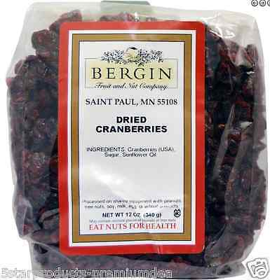 New Bergin Fruit And Nut Company Dried Cranberries Kosher Healthy Nutrition Food