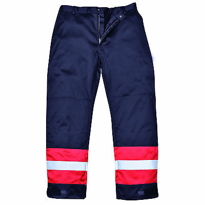 Flame Resistant Trousers Fire Retardant  Portwest Bizflame Pants Knee pad FR56