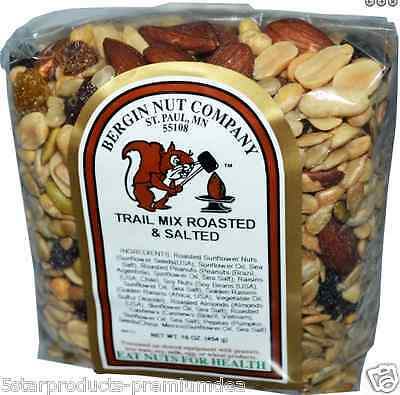 New Bergin Fruit And Nut Company Trail Mix Roasted & Salted Healthy Nutrition