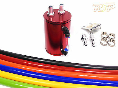 Red Alloy Oil Catch Tank/Can Hose Colour Option Polo Golf Bora Jetta GTi Turbo