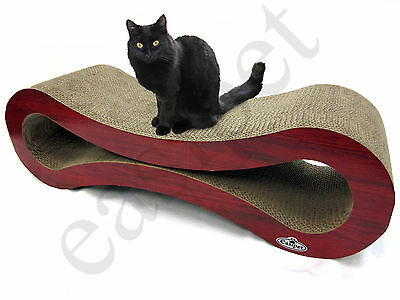 Deluxe Large Cat Kitten Cardboard Corrugated Scratcher Scratching Pad Sofa Bed