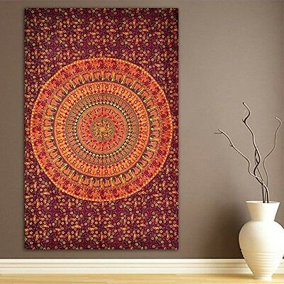 Elephant and Camel Tapestry, Indian Hippie Wall Hanging , Bohemian Bedspread