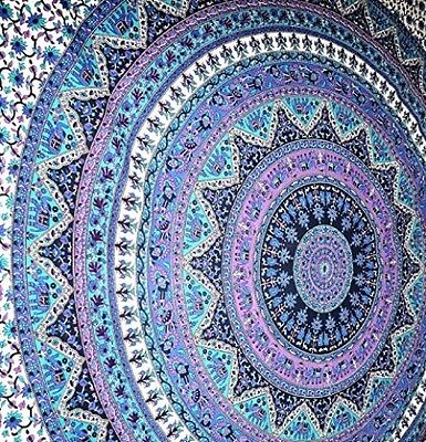 Large Indian Mandala Tapestry Hippy Wall Hanging Throw Bedspread Dorm Room