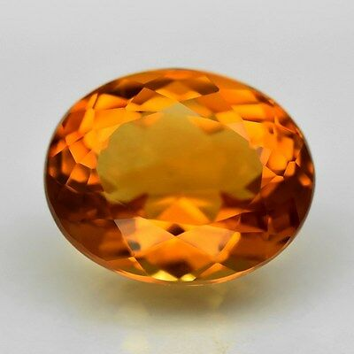 4.46ct 11x9mm Clean Oval Natural AAAA Madeira Citrine, Very Stunning!