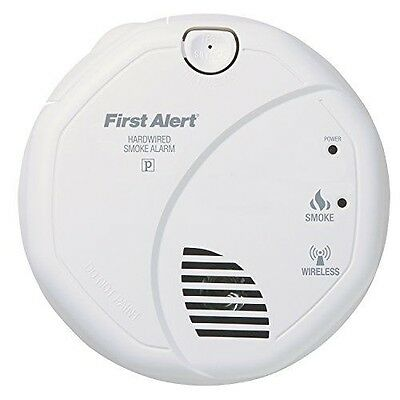 First Alert SA521CN Interconnected Hardwire Wireless Smoke Alarm with Battery Ba