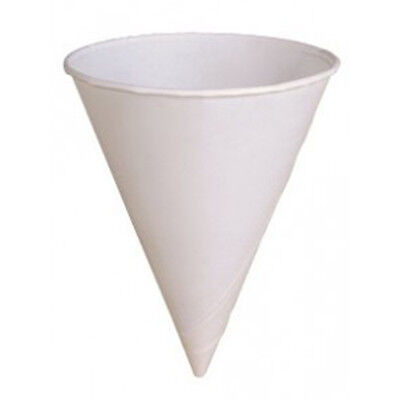 200 Solo 6 oz White Treated Paper Snow Cone Rolled Rim Water Cup