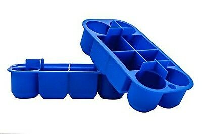 Large Multi Stackable Silicone Ice Cube Trays Set of 2 By Scotch Rocks