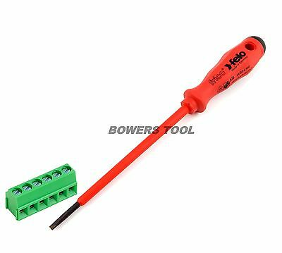 Felo Insulated 500 Series 1/8in. Flat Terminal Block Screwdriver Made in Germany