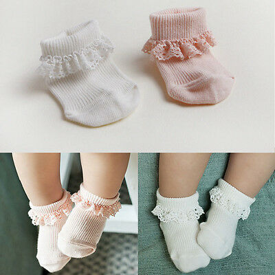 White Baby Kids Breathable Soft Cotton Children Lace Toddler Girls Socks