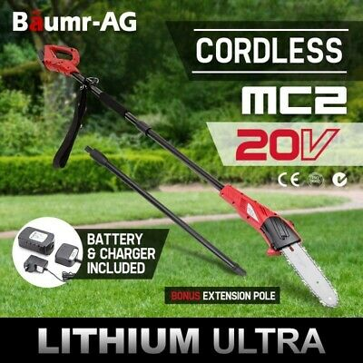 Baumr-AG 20V Cordless Lithium-Ion Pole Chainsaw Battery Electric Saw Pruner