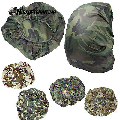 1X Tactical Camo Anti-dust Cover Waterproof for 30-40L Backpack Bag Outdoor