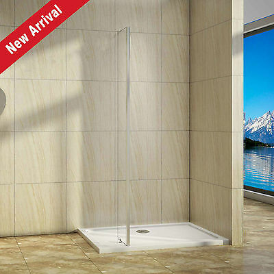 250x1950mm End Panel for Wet Room Shower Enclosure Screen Easyclean Glass L S