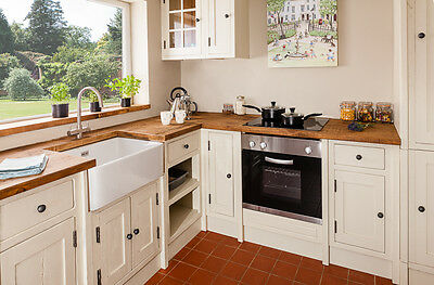 Handmade Rustic Farrow and Ball Painted Bespoke fitted Kitchens.