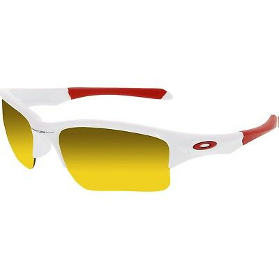 Oakley Boy's Mirrored Quarter Jacket OO9200-03 White Semi-Rimless Sunglasses