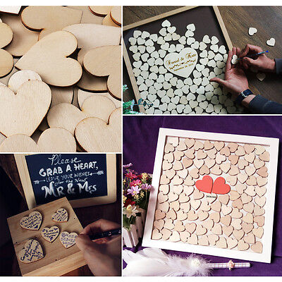 30/60/90pcs 40mmX40mmX3mm Hearts Cut MDF Wooden Shape Craft Embellishment Tags