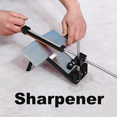 Professional Fix-angle Kitchen Sharpening Knife Sharpener System With 4 Stones