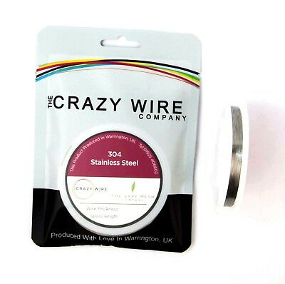 38AWG (0.1mm) SS304 Stainless Steel Wire by The Crazy Wire Company