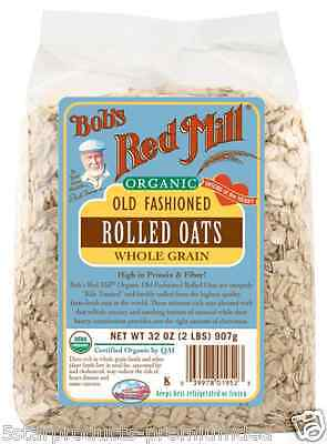 New Bob's Red Mill Organic Old Fashioned Rolled Oat Body Health Food Grocerie