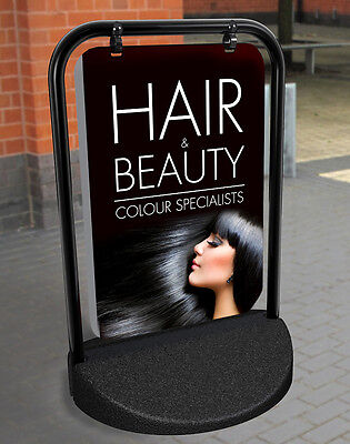 Hair and Beauty SHOP PAVEMENT SIGN ADVERTISING SHOP DISPLAY Swinger Sign