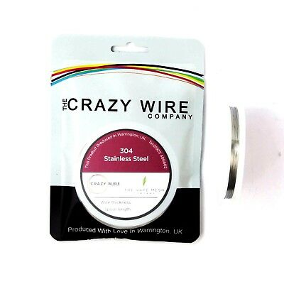 33 AWG (0.18mm) SS304 Stainless Steel Wire by The Crazy Wire Company
